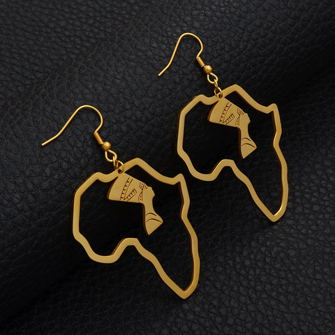 Queen Nefertiti Gold/Silver Color Earrings - 1st Culture