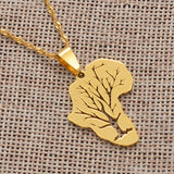 Africa Map Root Necklace - 1st Culture