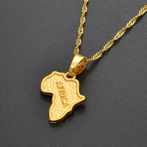 Small Africa Map Pendant Necklaces - 1st Culture