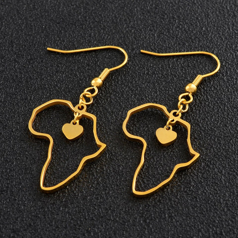 Map of Africa Trendy Earrings - 1st Culture