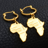 Map of Africa Earrings - 1st Culture