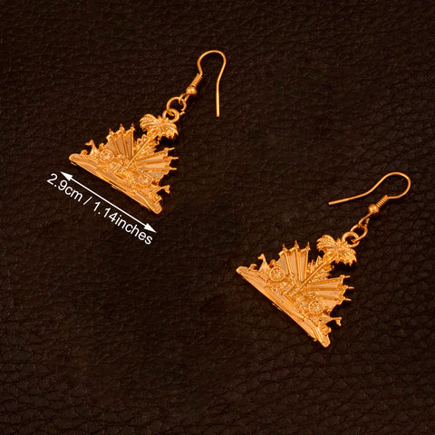 Haiti Emblem Earrings - 1st Culture