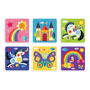 Unicorn Rainbow - set of 6 puzzles