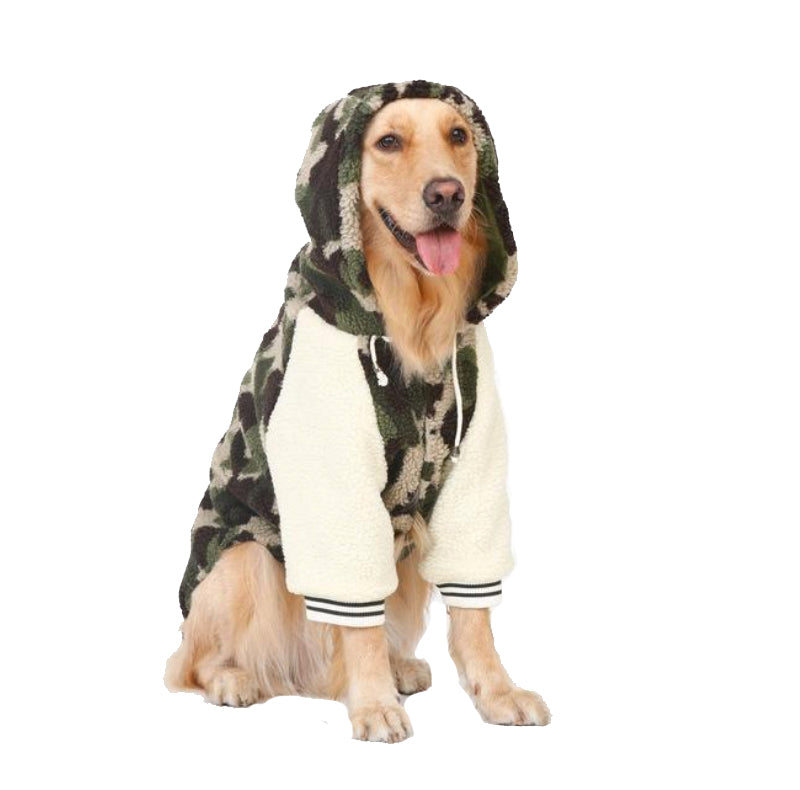 Big Doggo Army Letterman Jacket