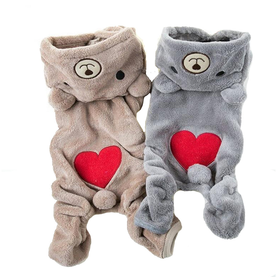 Heart Bum Bear Onesie - 2 Colors!
