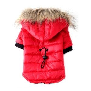Drawstring Quilted Fur Trimmed Jacket - 3 Colors!