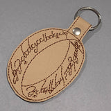 "STITCH WARS- TOLKIEN LORD OF THE RINGS ""ONE RING"" KEYRING"