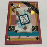 "THIS BIRD HAS FLOWN- ""Jungle Hugs & Kisses"" Handmade Card & Gift Tag Combo"