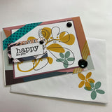 "THIS BIRD HAS FLOWN- Jungle ""Happy For You"" Handmade Card & Gift Tag Combo"