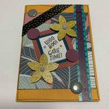 "THIS BIRD HAS FLOWN- Jungle ""Woo Hoo Cake Time"" Handmade Card & Gift Tag Combo"
