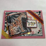 "THIS BIRD HAS FLOWN- Jungle ""Thinking of You"" Handmade Card & Gift Tag Combo"