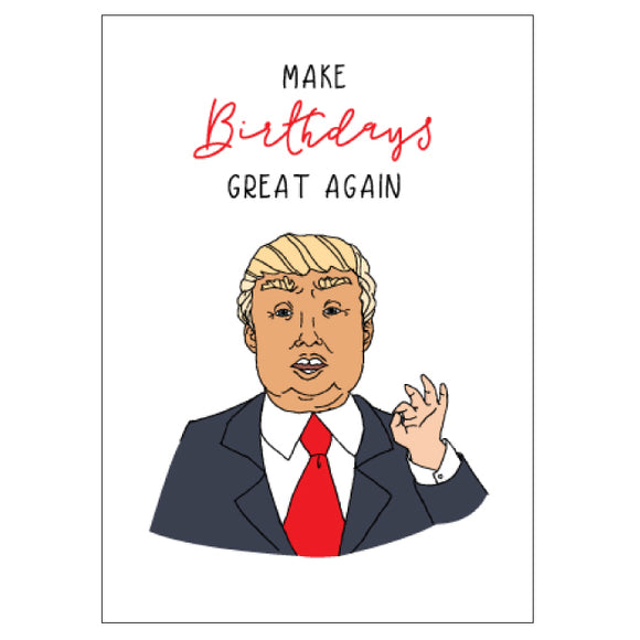 CANDLE BARK CREATIONS - TRUMP birthday Gift Card