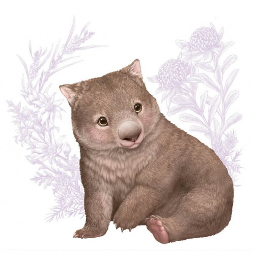 NUOVO - ELISE MARTINSON GREETING CARD - WOMBAT