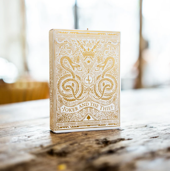 JOKER & THE THIEF PLAYING CARDS - WHITE & GOLD EDITION