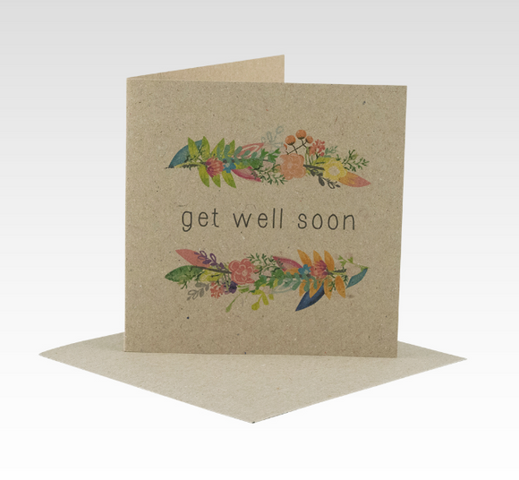 RHICREATIVE - Floral Get Well Soon Mini Card