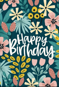 "NUOVO - MEL ARMSTRONG ""FLORAL BIRTHDAY"" GREETING CARD"