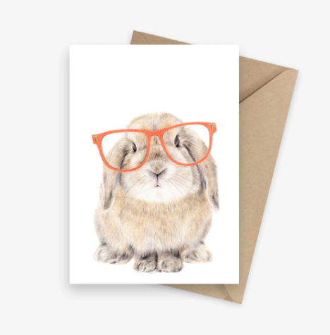 CARMEN HUI- Rufus The Bunny Greeting Card