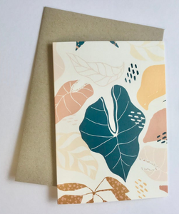 ROSEY CREATIVE- Tropical Vines Greeting Card