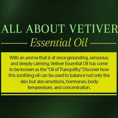 Vetiver Essential Oil Caption