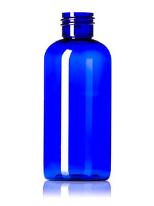 Plastic Blue PET Boston Round Bottles 240 ml - 24/410 neck - Essentially You Oils - Ottawa Canada