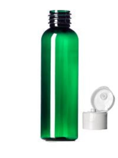Plastic Green Bullet Bottles With Flip Top Cap 30 ml - 18/415 Neck - White- Essentially You Oils - Ottawa Canada