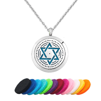 Star Of David Essential Oil Diffuser Necklace - Essentially You Oils