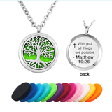 """With god all things are possible"" Essential Oil Diffuser Necklace - Essentially You Oils"