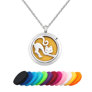 Love Cat Essential Oil Diffuser Necklace - Essentially You Oils