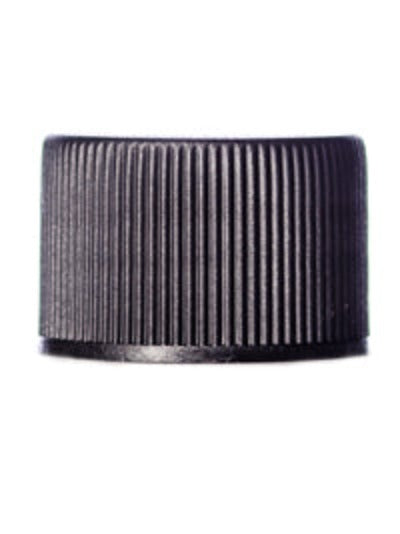 Ribbed Polypro Caps - Black - 20/410 and 24/410 Neck - Essentially You Oils - Ottawa Canada