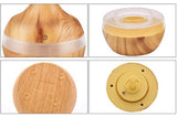 Wood Grain Mini USB Ultrasonic Diffuser With LED Lights - Essentially You Oils - Ottawa Canada