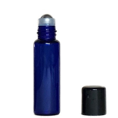 Glass Bottles With Metal Roll-On Inserts and Caps - Essentially You Oils