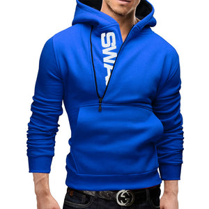 Fashion Men's Zipper Printed letters Fleece Hoodies Tracksuits Pullover SportSuits Men Coats Jackets Hoodies Sweatshirts 5XL