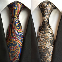 "Factory Hot Novelty 3.1"" Classic Mens Ties woven 100% Silk Colorful Paisley Jacquard Woven Wedding Party Prom necktie Neck Tie"
