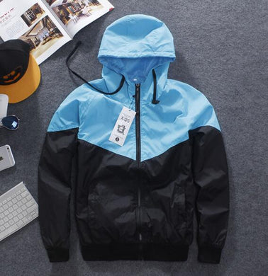 new Men Jacket Autumn Patchwork Reflective 3m Jacket  Hip Hop Casual Waterproof Windbreaker Men Coat Trend Brand SMC0140-5