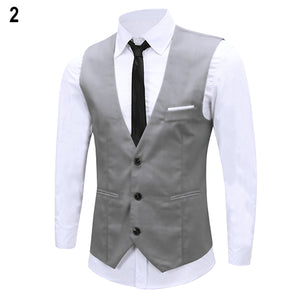 2016 New Arrival Men's Classic Formal Business Slim Fit Chain Dress Vest Suit Tuxedo Waistcoat 08WG
