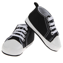 Copy of 1 Pair Baby Boys Shoes Girls Sports Canvas Shoes Kids Children Plain Design First Walkers Black White 2017