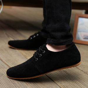 EUR 39 - 46 Hot Sale Spring Autumn Fashion Men Shoes Mens Flats Casual Suede Shoes Comfortable Breathable Flats Driving Loafers