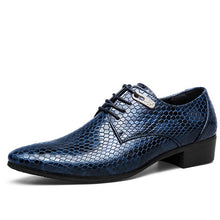 Python Pattern High Quality Men Oxfords Party Wedding Men Flats Patent Leather Men Business Shoes 1108 35