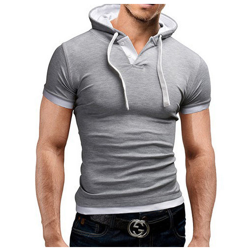 2016 New Arrive men Casual short sleeves hoodies men's summer cotton sweatshirt size M-XXXL