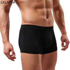 LELINTA Sexy Mens Underwear Cute Boys in Boxers Elastic Fabric Gay Underwear for U Convex Pouch Pants Male Underpants Guys
