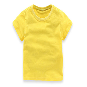 2017 Newest boys Girls T Shirt Solid Color children kids clothes boy summer style kids clothing Clothes Shirt Child Cotton Cloth