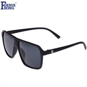 FOENIXSONG Brand Male Square Sunglasses for Men New Retro Black Frame Vintage Women's Sun Glasses Female Gafas Oculos de sol