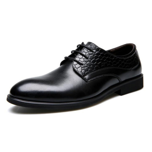 CPI New men's dress leather shoes men's Wedding Dress Business Gentleman Office Party Shoes Comfortable Breathable CC-03