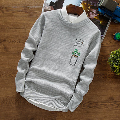 2017 more trend of qiu dong men sweater youth warm round collar sweater