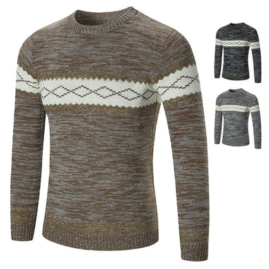 Fashion Men Sweater Pullovers Casual O-Neck Simple Slim Fit Knitting Sweaters Autumn Winter Warm Tops FS99