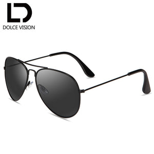 DOLCE VISION Brown Mirror Classic Sunglasses Women Brand Design Double Bridge Sun Glasses For Men Shades Lunette Female UV400
