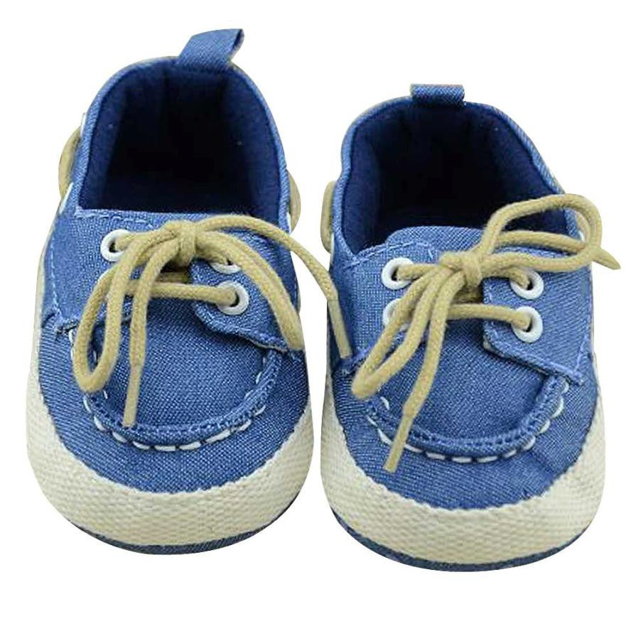 New Brand 2015 Lovely Blue Canvas Baby Boy Toddler Autumn Prewalker Shoes 11CM-13CM For 0-1 Year Kids Baby First Walker Elegant