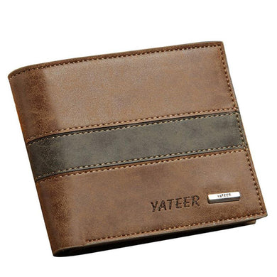 2017 Mens wallets Fashion Leather ID Card Holder Billfold Purse Men Wallets bags for men Coin purse Billetera hombre