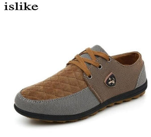islike  2017 mens Casual Shoes mens canvas shoes for men shoes men fashion Flats Leather brand fashion suede shoes