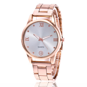 Ybotti 2017 new brand fashion men watch luxury stainless steel rose gold casual quartz watches sport reloje mujer clock hot